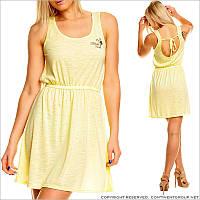 Желтое легкое платье