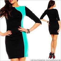 Прямое платье черного цвета