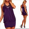 Фиолетовое платье с камнями