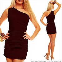 Коричневое облегающее платье