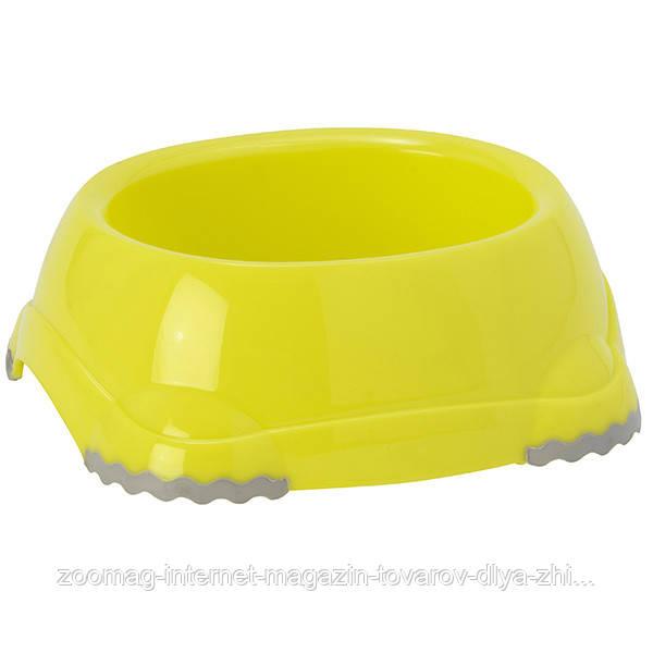 Moderna Smarty Bowl №1 миска пластик для кошек и собак (2*315 мл, d-12 см) лимонный