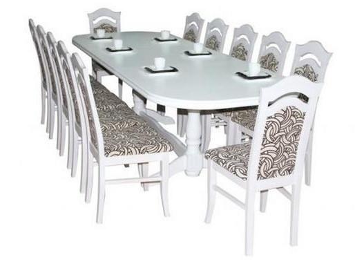 Стол обеденный раскладной Престиж белый Fusion Furniture