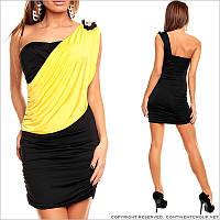 Черно-желтое платье