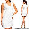 Белое вечернее платье с кружевом