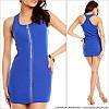 Синее прямое платье