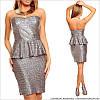 Вечернее серебряное платье