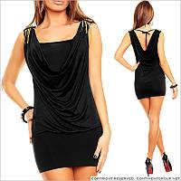 Черное платье с погонами