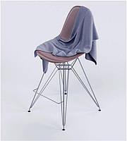 Стул барный Тауэр коричневый с хромированными ножками, Eames DSR Barstool
