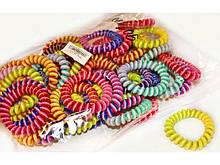 Резинки для волос пружинки цветные 50 шт.