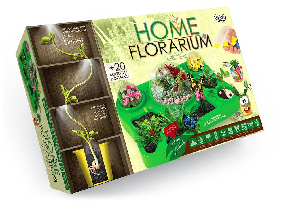 """Безпечний освітній набір для вирощування рослин """"HOME FLORARIUM"""" укр (5)"""