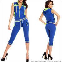Летний синий спортивный костюм