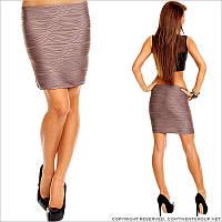 Коричневая юбка короткая