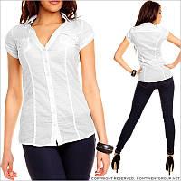 Деловая блузка белого цвета