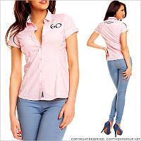Розовая женская блузка