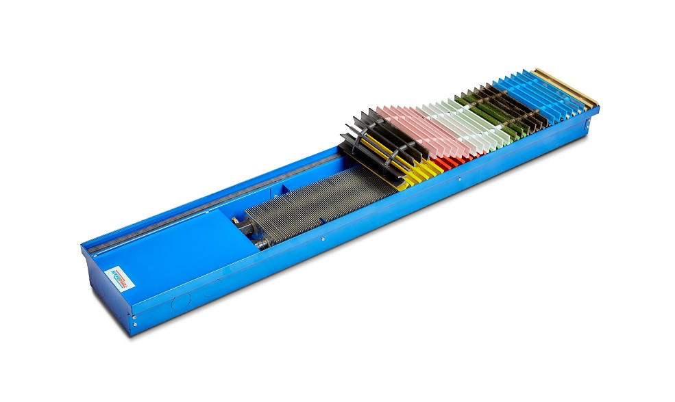 Внутрипольный конвектор без вентилятора TeploBrain SЕ 170 4х трубный теплообменник