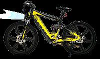 Городской электровелосипед City Bike Elite модель кроссовая (цвет желтый)