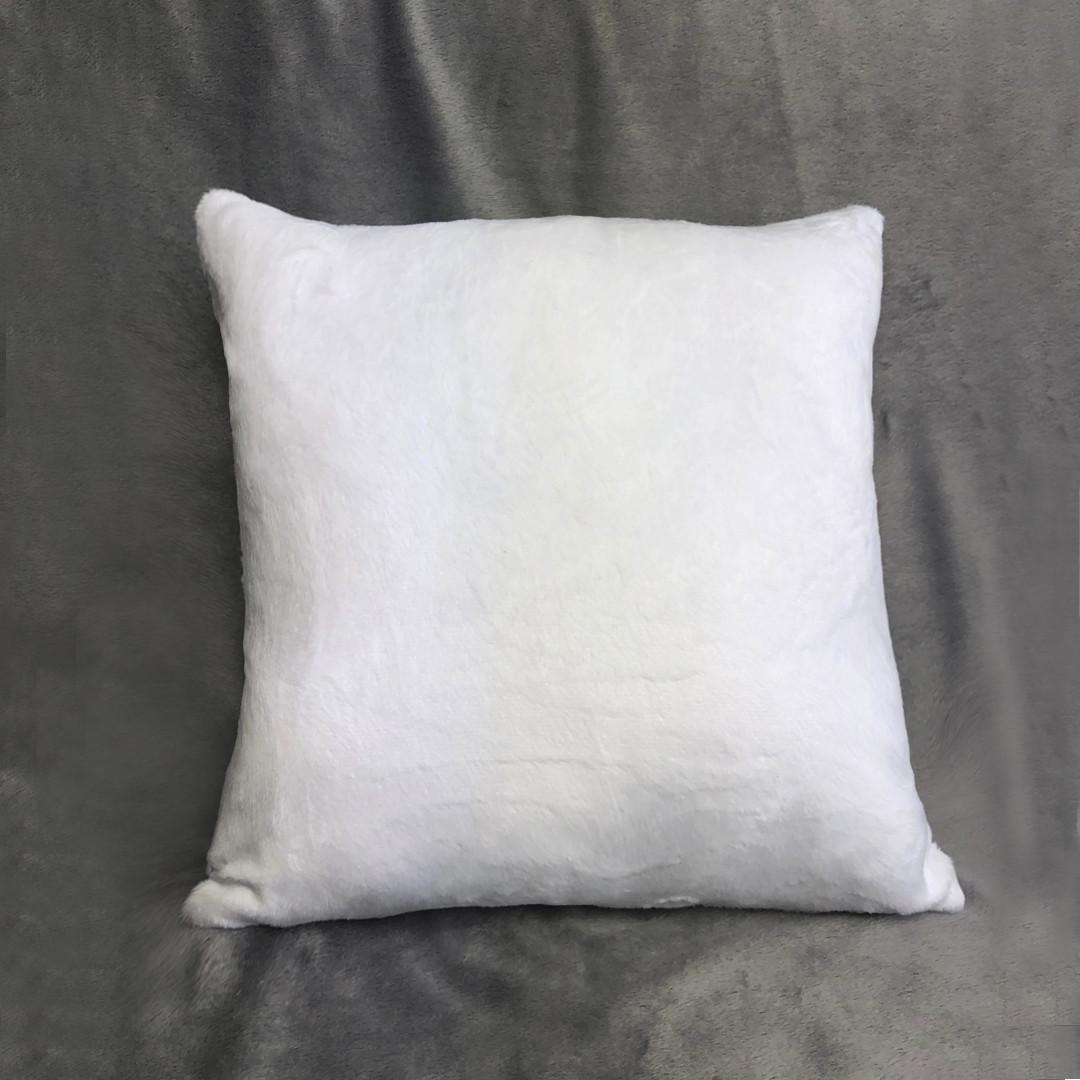 Подушка квадрат 45см. плюшевая PREMIUM для сублимации от производителя Украина