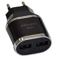 Зарядное устройство Atcom ES-D03 (1*USB, 1A & 1*USB, 2.1A) (7016), фото 1