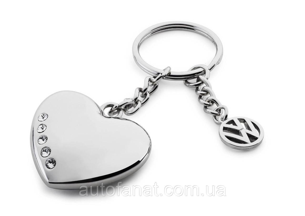 Оригинальный брелок для ключей Volkswagen Keyring Heart with Swarovski Crystals (33D087010A)
