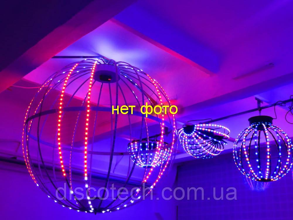 Сфера диаметр- 720мм, 24луча, 64пикс/луч, шаг-16мм (1536пикс, 384W, БП-130/300W/5V)