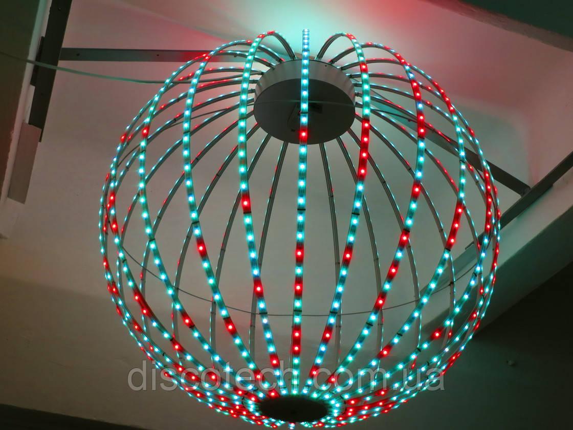 Сфера диаметр- 880мм, 24луча, 40пикс/луч, шаг-32мм (960пикс, 240W, БП-300W/5V-1шт)
