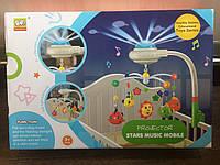 Карусель(Мобіль) - Проектор на ліжечко з нічником проектор зоряного неба 838-15