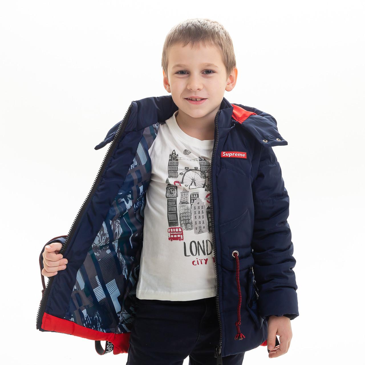 """Куртка - жилет для мальчика демисезонная """"Томас"""", размеры на рост 116 - 146"""