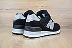 Женские кроссовки New Balance 574  черные + cерая N, фото 9
