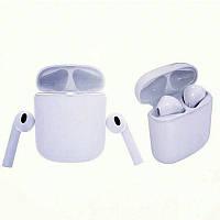 Беспроводные наушники в кейсе Power Bank Bluetooth гарнитура типа AirPods HBQ i7 TWS белые