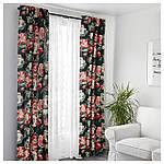 IKEA LEIKNY Гардини, 1 пара, чорний, різнобарвний (104.288.17), фото 5