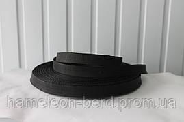 Стропа ременная лента (репсовое плетение) чёрная 5см