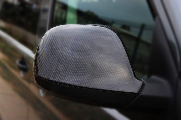 Накладки на дзеркала (2 шт, натуральний карбон) Volkswagen Amarok