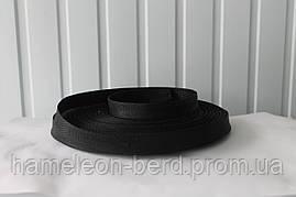Стропа ременная лента (репсовое плетение) чёрная 3см