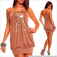 Платье-бандо с пайетками