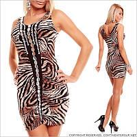 Тигровое платье с камнями