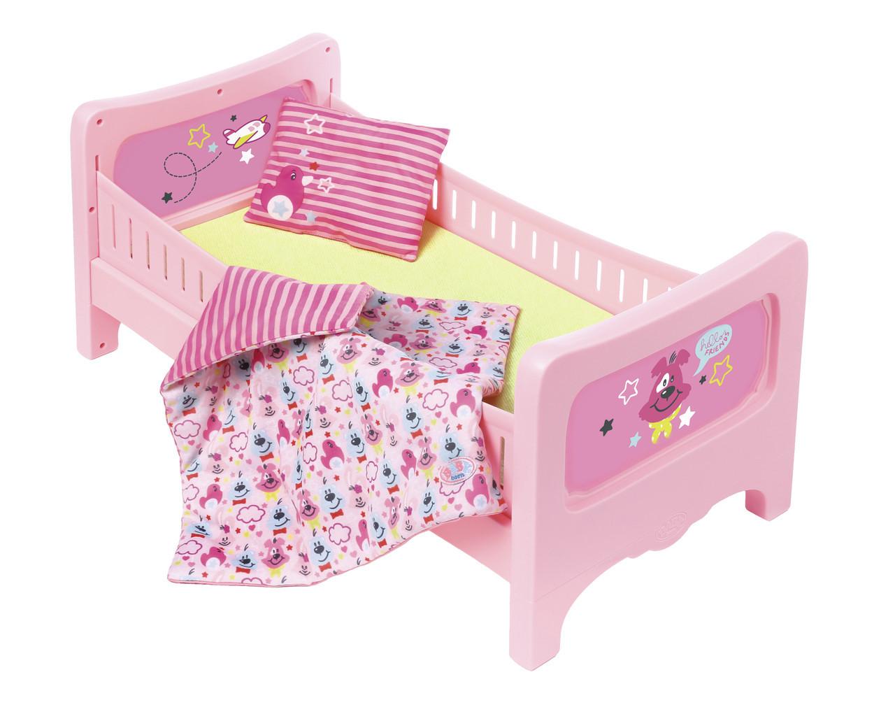 Кроватка для куклы Zapf Baby Born - Сладкие сны с постельным набором (824399)