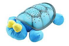 """Ночник Twilight  Turtle """"Музыкальная черепаха"""" синяя"""