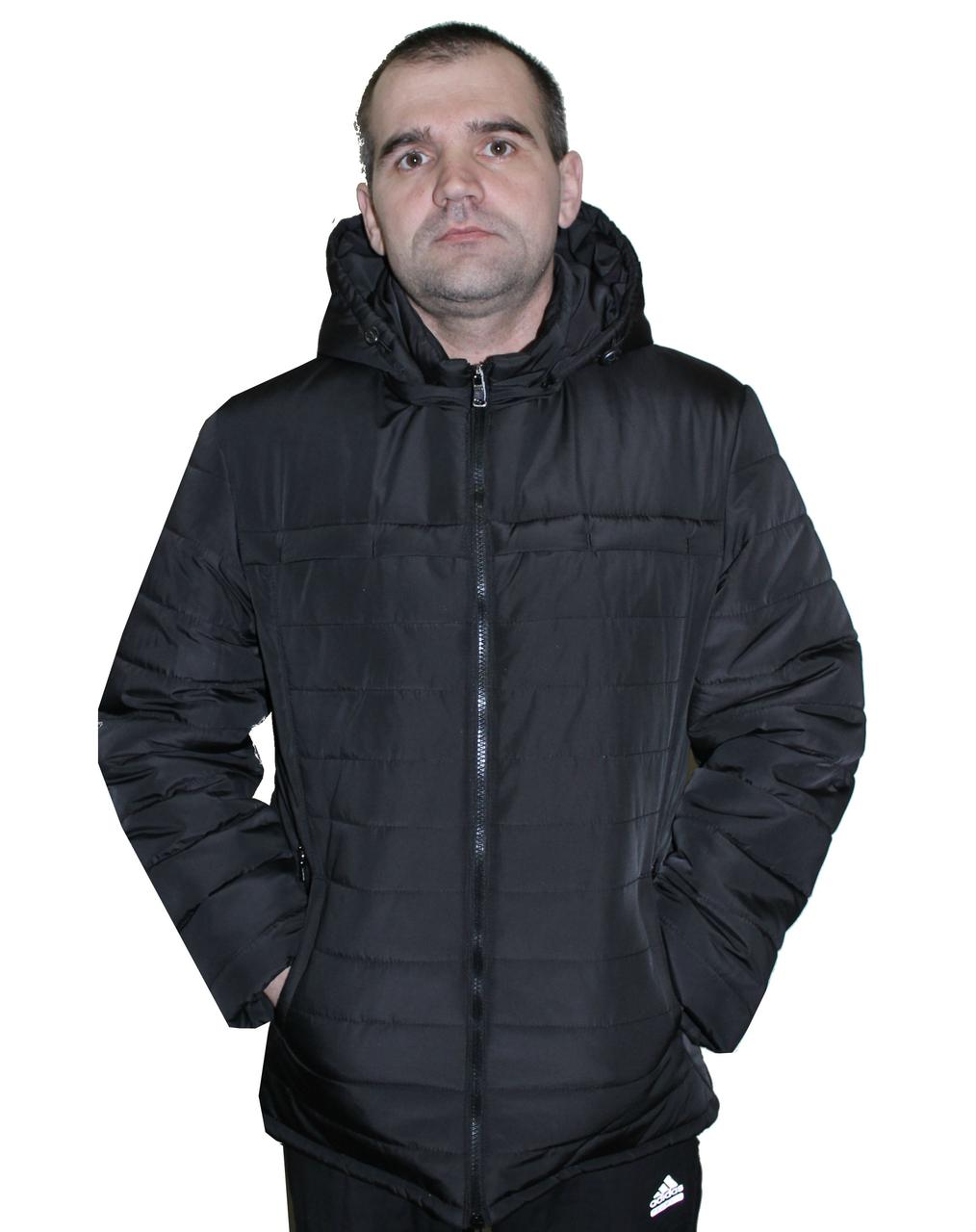 Демисезонная мужская куртка черного цвета