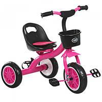 Детский трехколесный велосипед M 3197-M-2 с корзиной, малиновый, фото 1