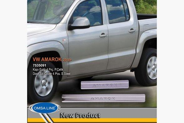 Накладки на пороги OmsaLine (4 шт, нерж) Volkswagen Amarok