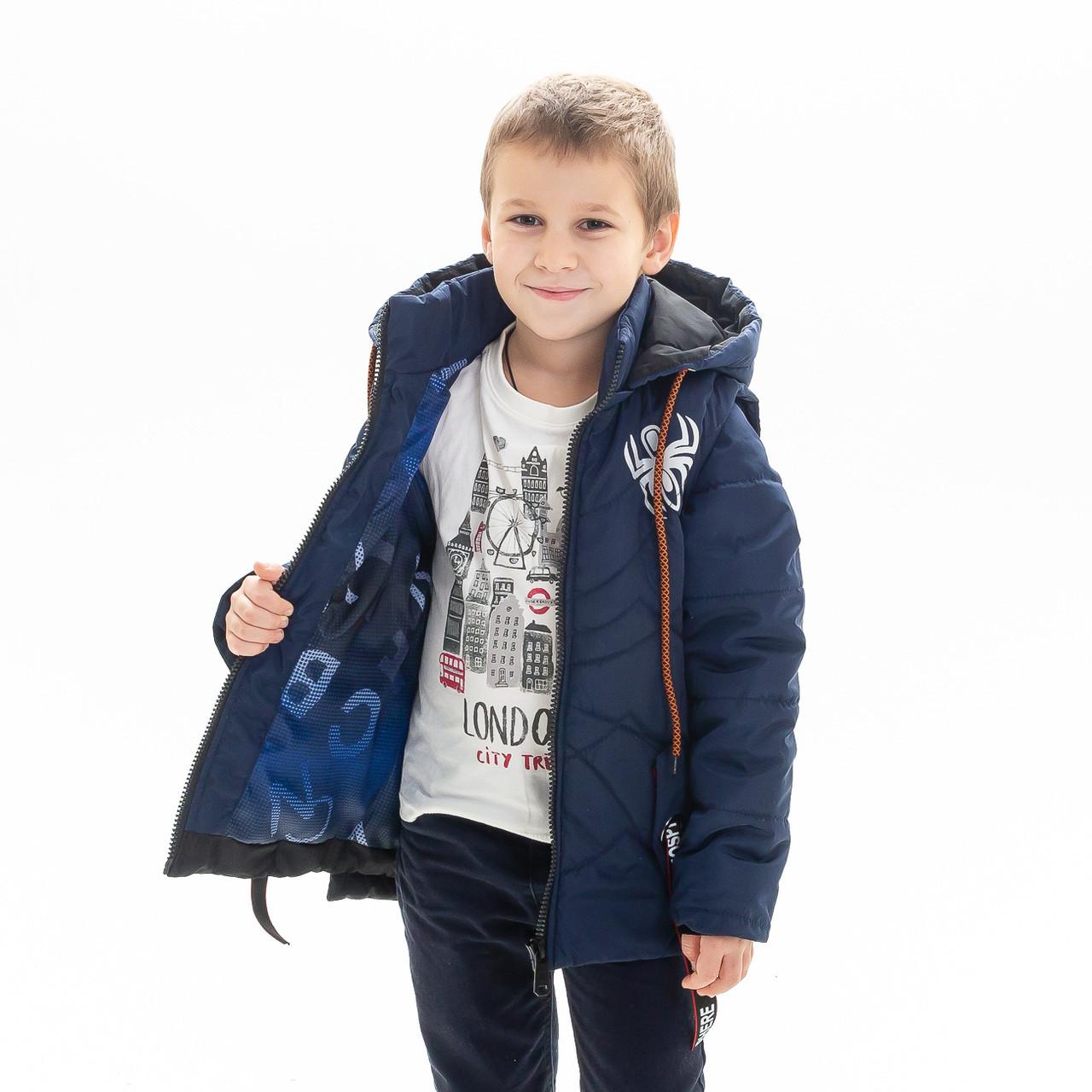 """Куртка - жилет для мальчика демисезонная """"Паук"""", размеры на рост 92 - 122"""
