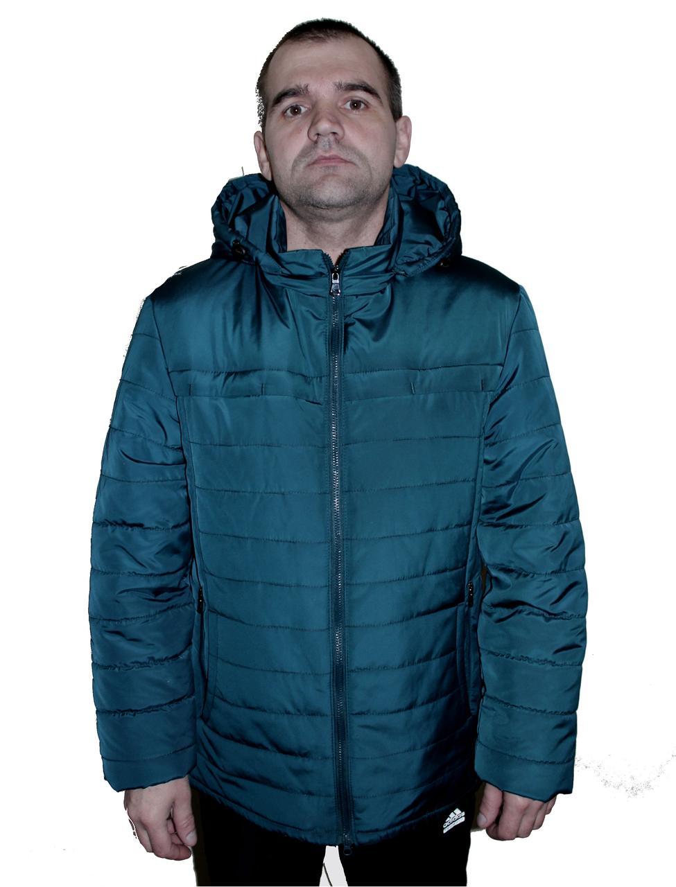 Стильная демисезонная мужская куртка со съемным капюшоном