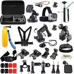Набор креплений и аксесуаров для экшн камеры Unitools 45 елементов
