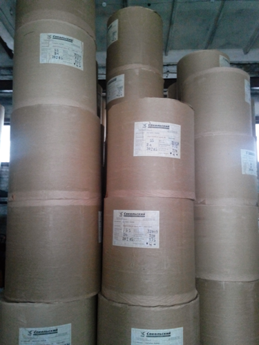 Бумага в рулонах на складе