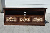 Indyjska drewniana komoda rtv, фото 1