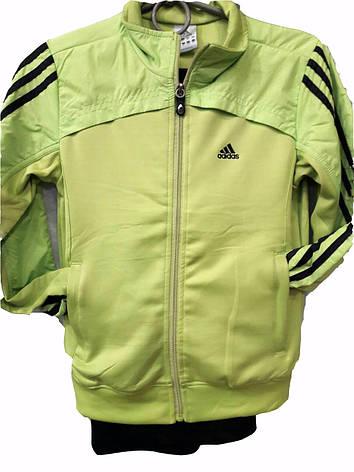 Костюм спортивный подростковый для девочек Adidas салатный, фото 2