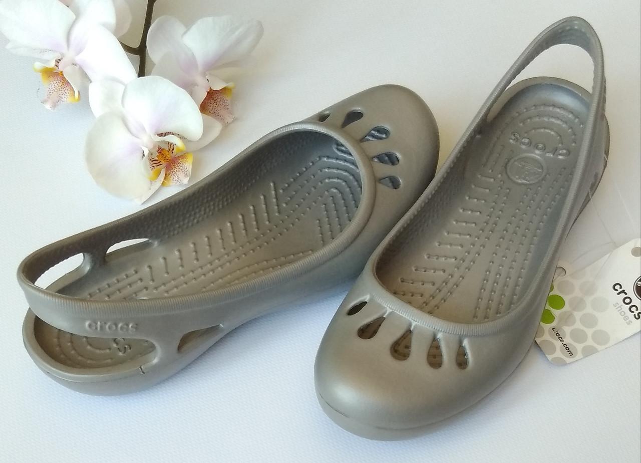 2a6fa64ae Балетки крокс серебро серые crocs malindi 35-39 - Интернет-магазин одежды и  обуви