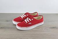 Кеды женские Vans Authentic Sneaker Red Classic, реплика, р 36,37,39