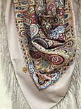 Горожанка 1836-2, павлопосадский платок шерстяной  с шелковой бахромой, фото 3