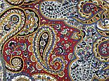 Горожанка 1836-2, павлопосадский платок шерстяной  с шелковой бахромой, фото 8